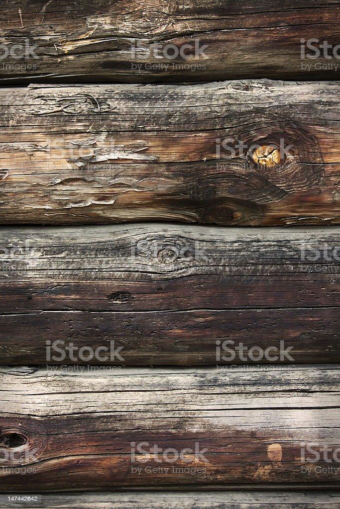 Grunge Wooden Logs royalty-free stock photo