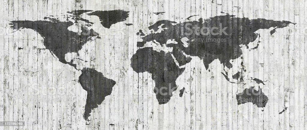 Grunge World Map 2008 stock photo
