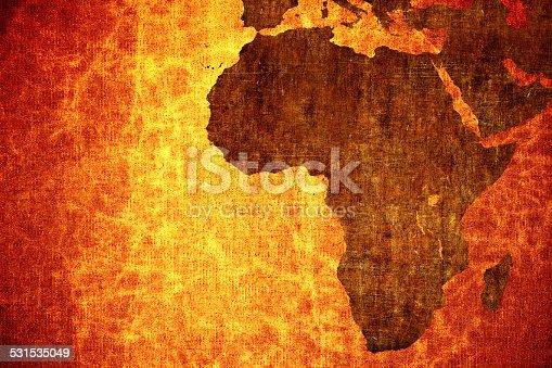 istock Grunge world map 531535049