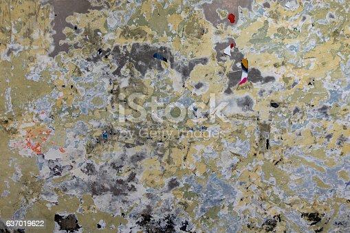 istock Grunge Worn Billboard Wall 637019622