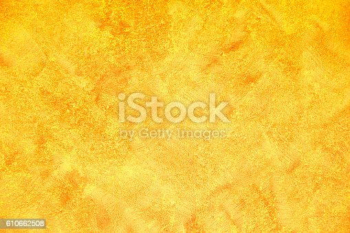 Grunge Yellow Color Wall Stock Photo & More Pictures of Abstract ...