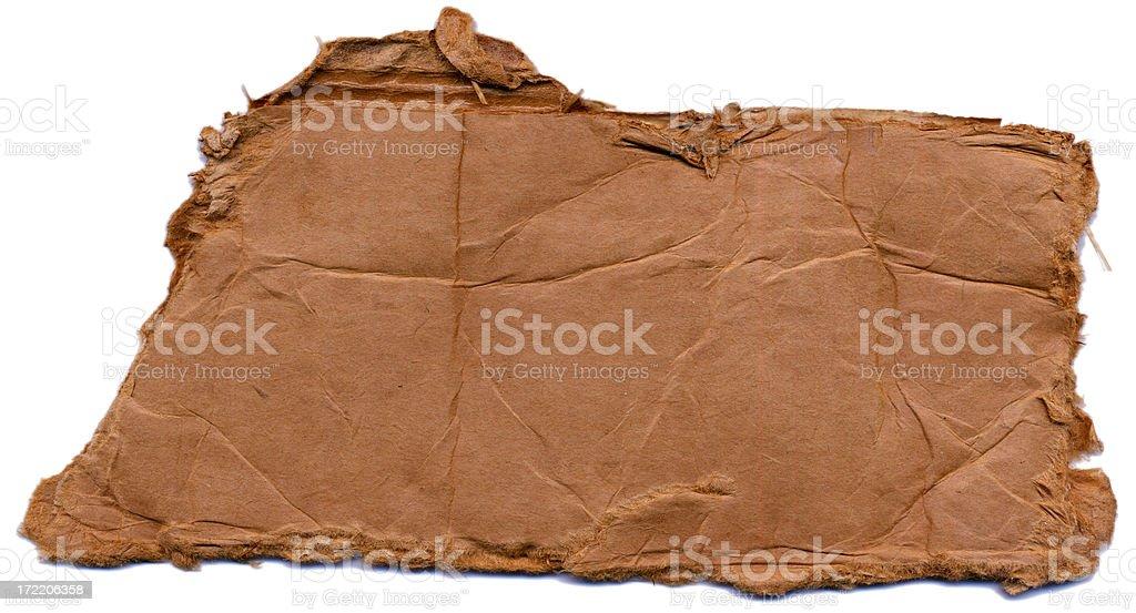 Grunge-Cardboard tearout royalty-free stock photo