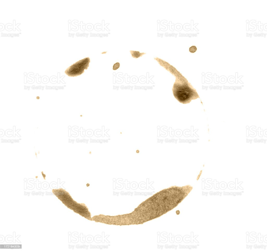 Grunge-Coffee Ring royalty-free stock photo