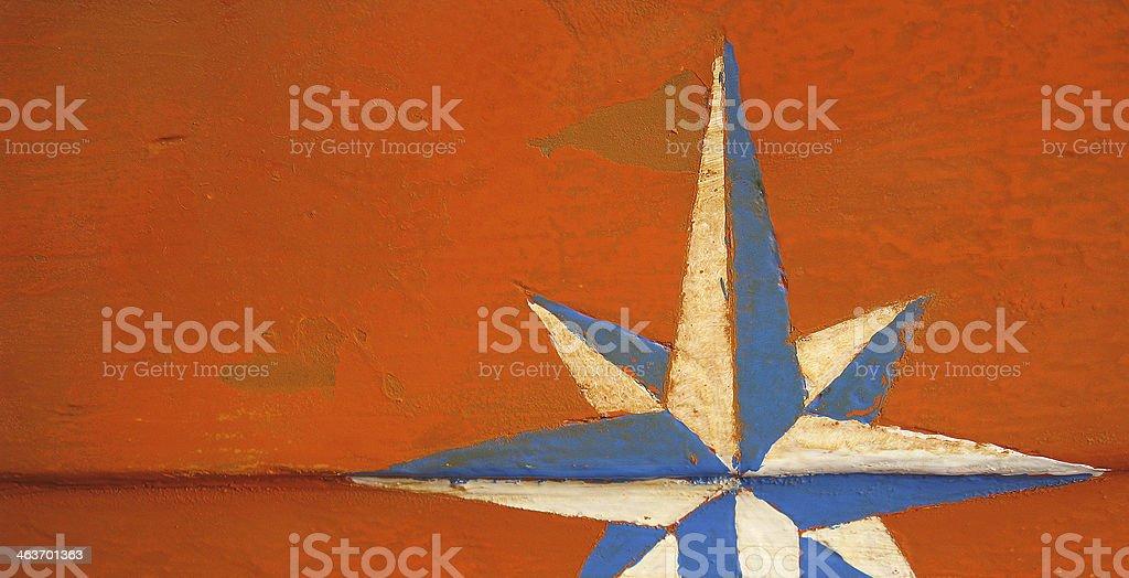 Grunged Star royalty-free stock photo
