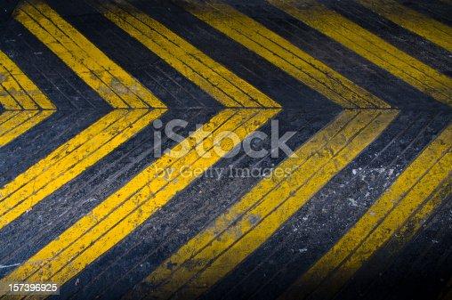 istock Grungey Driveway Arrows 157396925