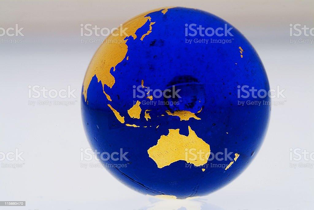 Grungey Globe Australia stock photo
