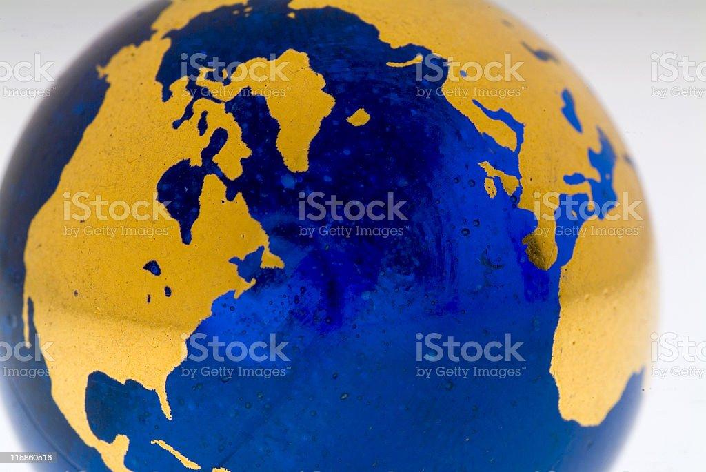 Grungey Globe Detail, Northern Hemisphere stock photo