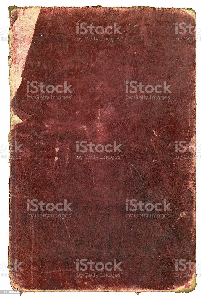 Grungy 1885 book cover stock photo