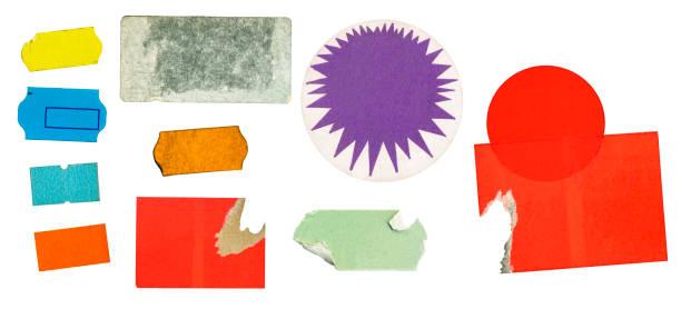 Grunge Kleber Preis Aufkleber, Preisschilder, mit kostenlosen Textfreiraum, isoliert auf weißem Hintergrund – Foto