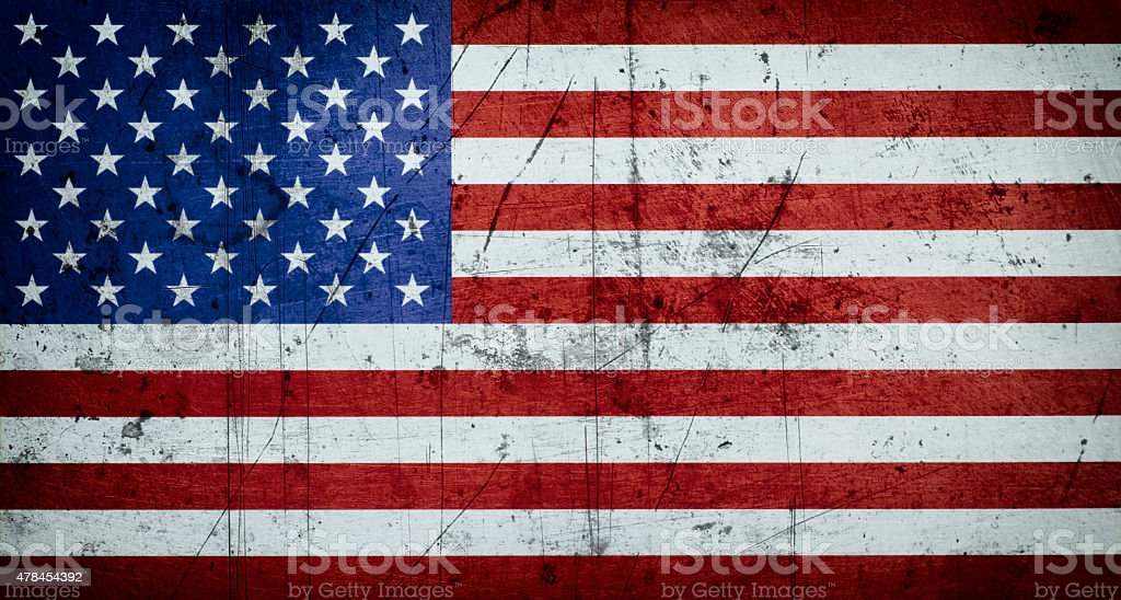 Grungy American flag background stock photo