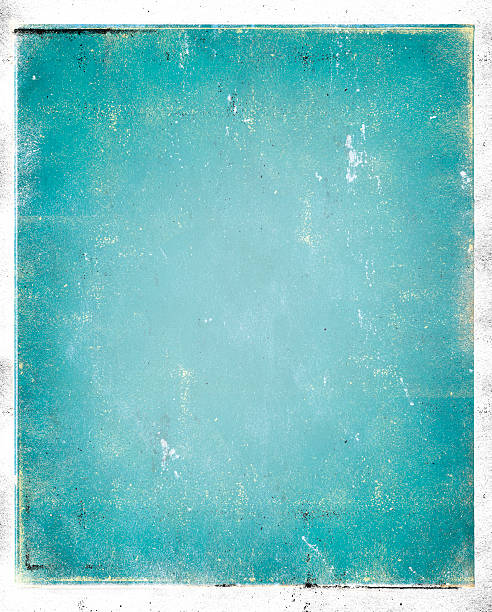 Grungy background in blue without anything on it multi-media background with digital enhancement - use all or part turquoise colored stock pictures, royalty-free photos & images