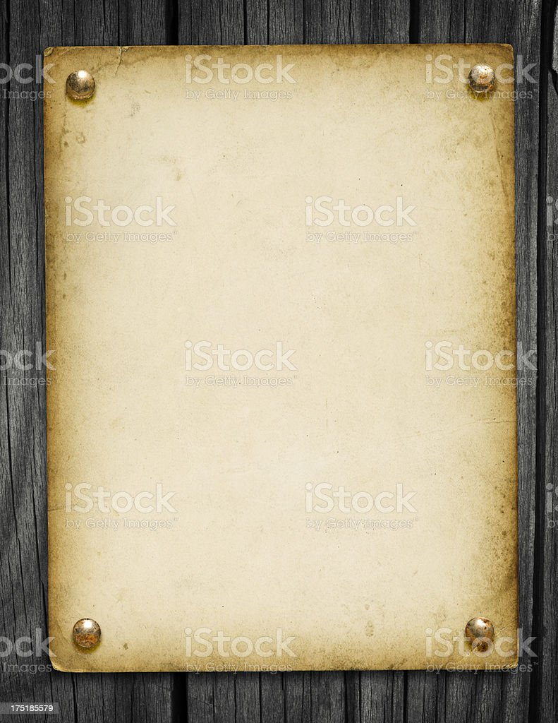 Grungy Background on Wood (with Clipping Path) stock photo