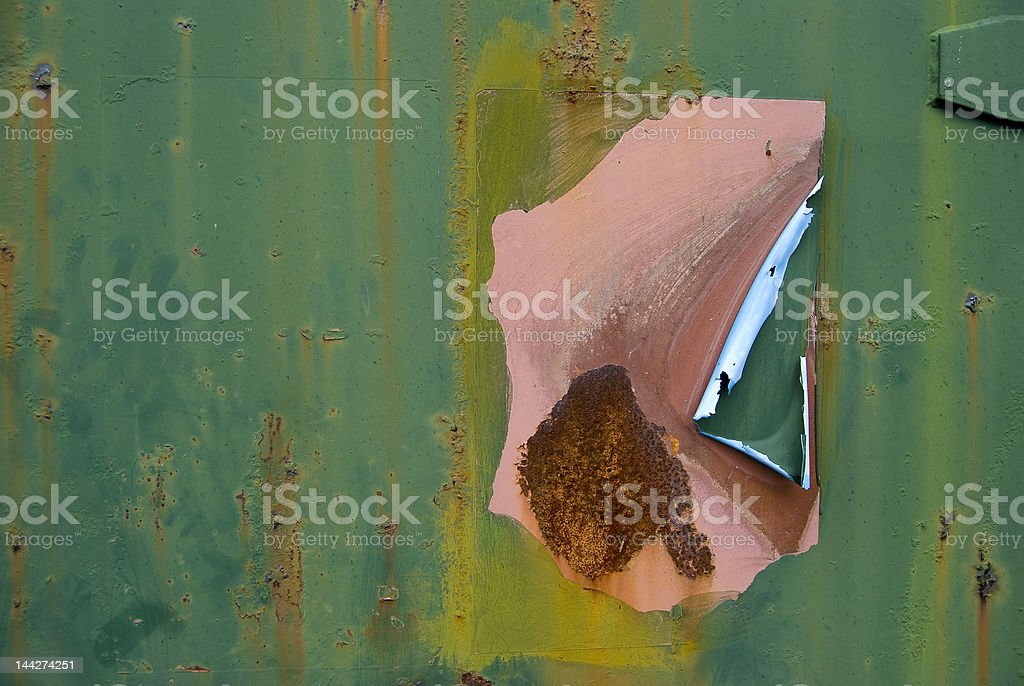 Grungy background - peeling paint royalty-free stock photo