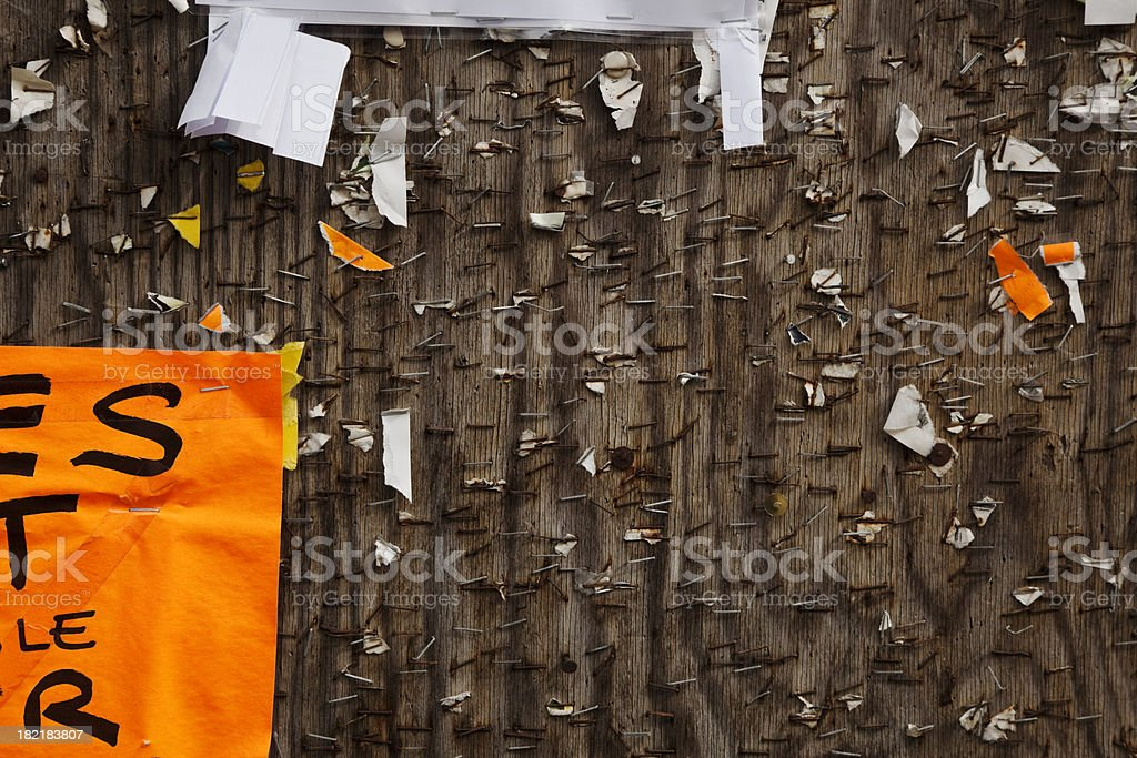 Grungy billboard collage. royalty-free stock photo