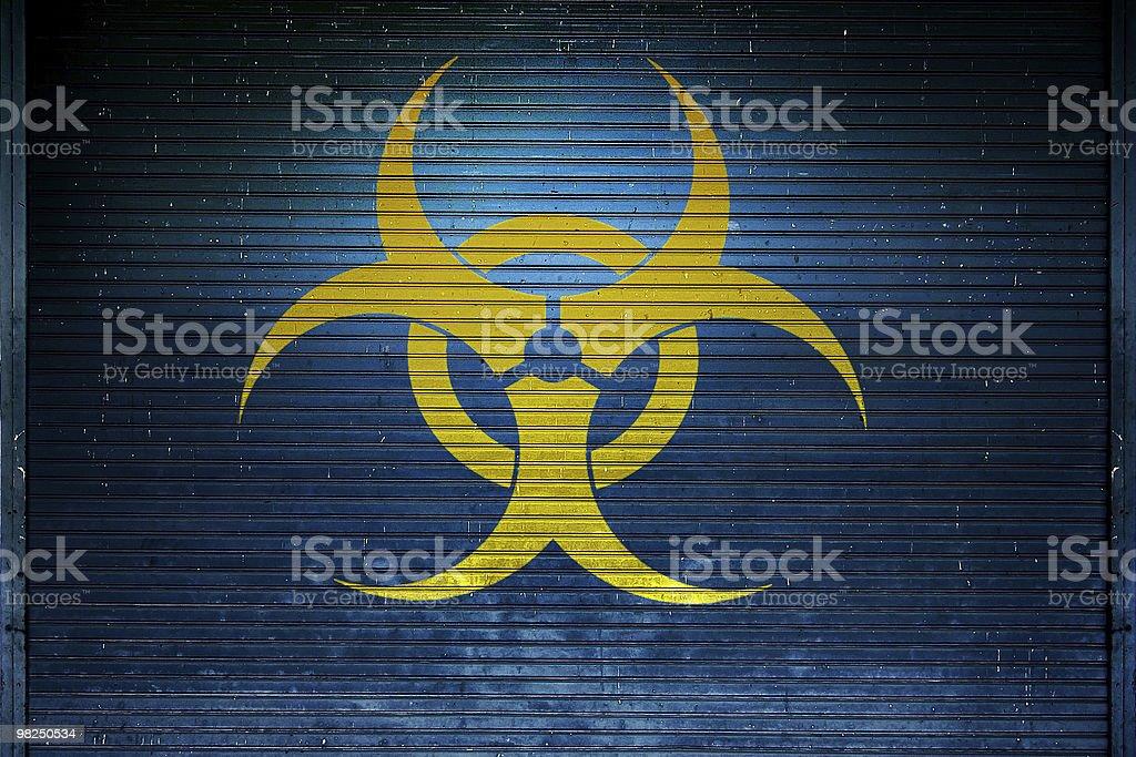 Grungy Biohazard Sign royalty-free stock photo