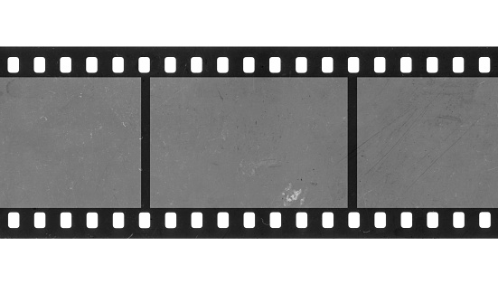 Black 35mm negative background with beautiful texture, scratches and dust.
