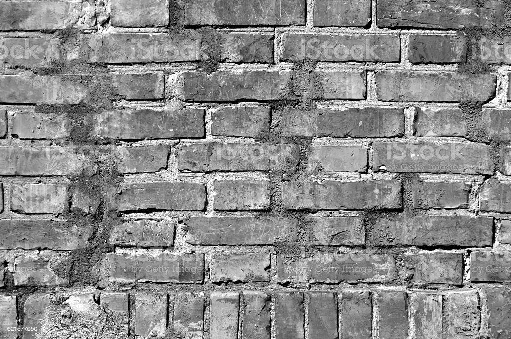 Grungy black and white brick wall texture. photo libre de droits