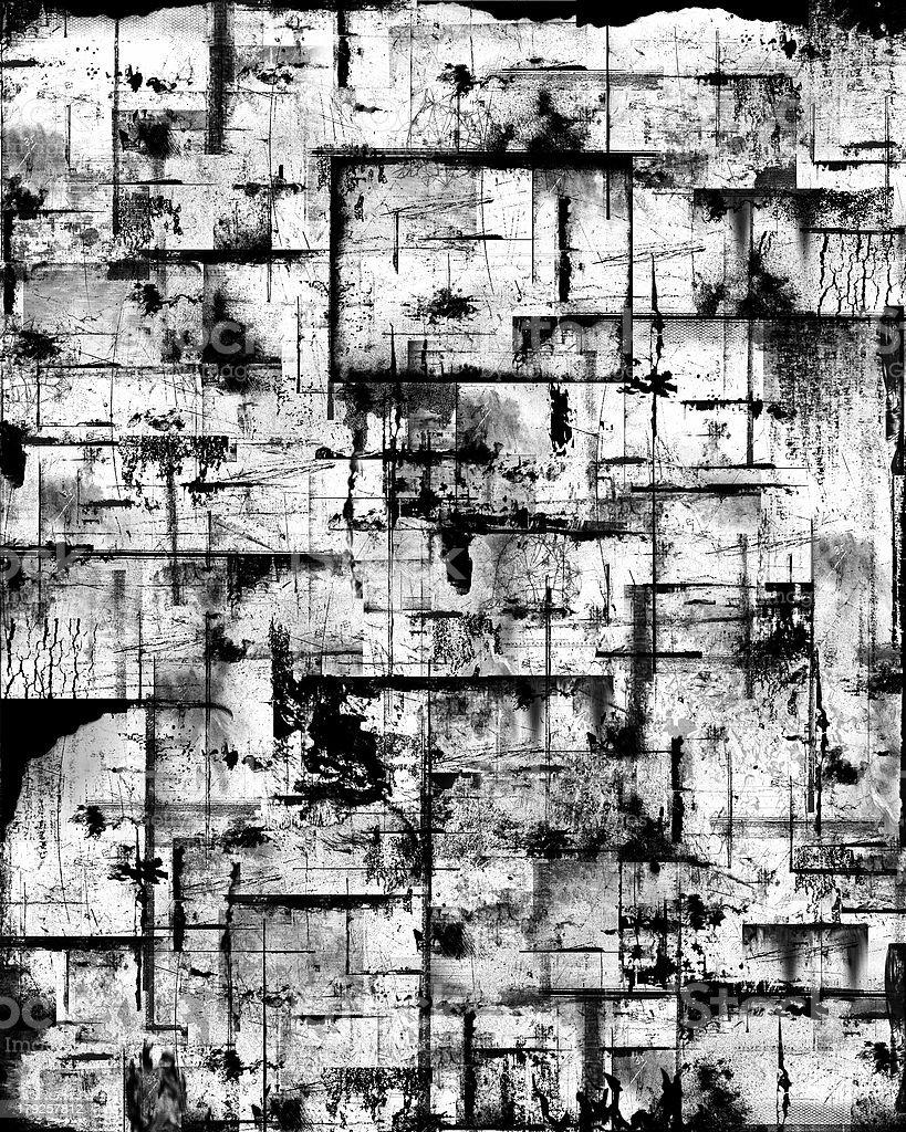 Grungy Black & White Background stock photo