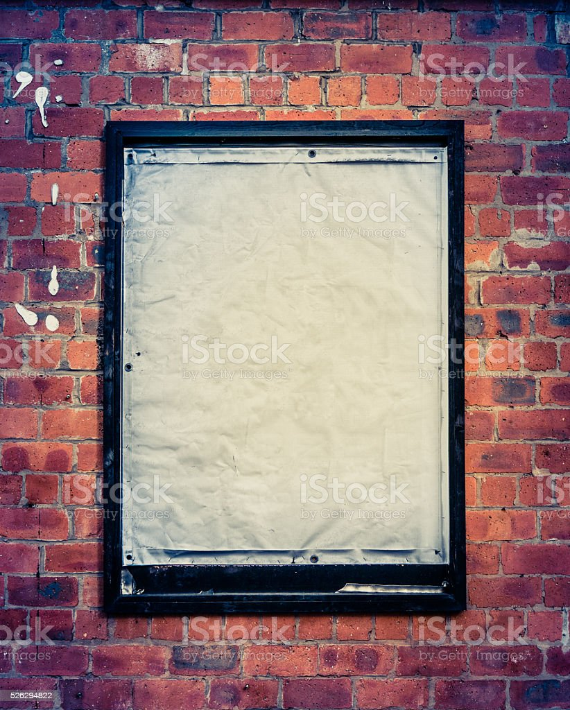 Grungy Blank Billboard stock photo