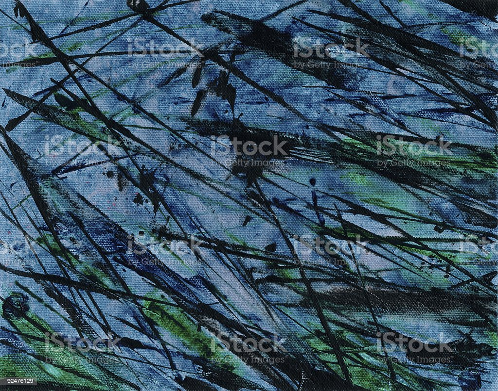 Grungy Blue Abstract royalty-free stock photo