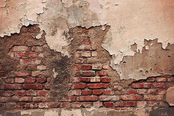 brique de grunge mur (xxxl - pelé photos et images de collection