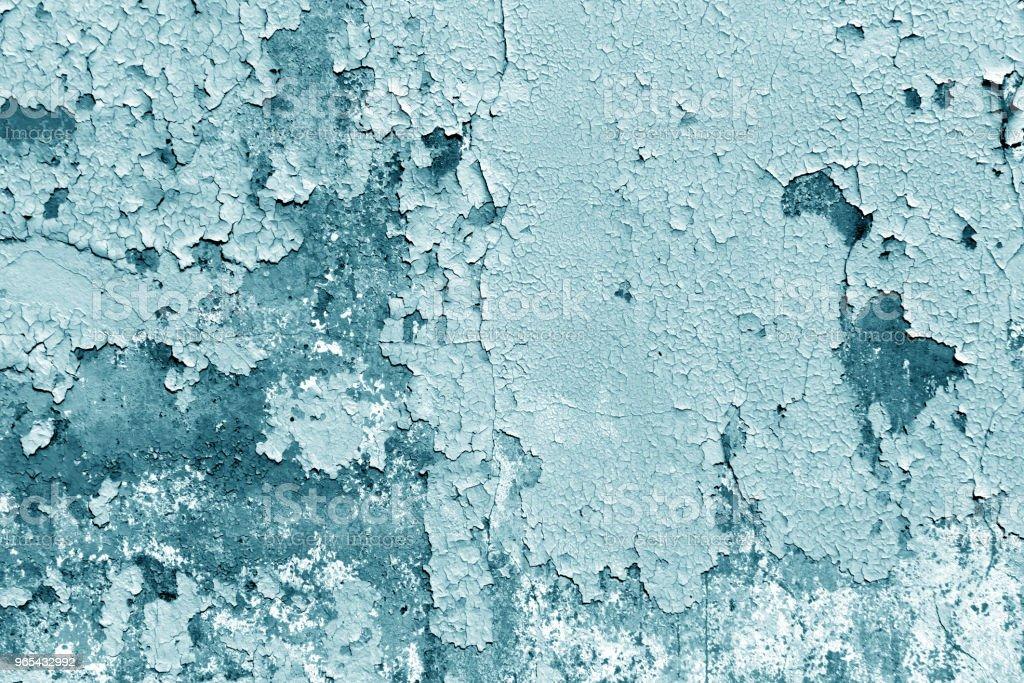 蹩腳水泥牆的青色色調。 - 免版稅具有特定質地圖庫照片