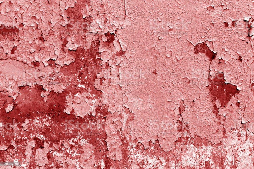 Grungy cement wall in red tone. - Zbiór zdjęć royalty-free (Antyczny)