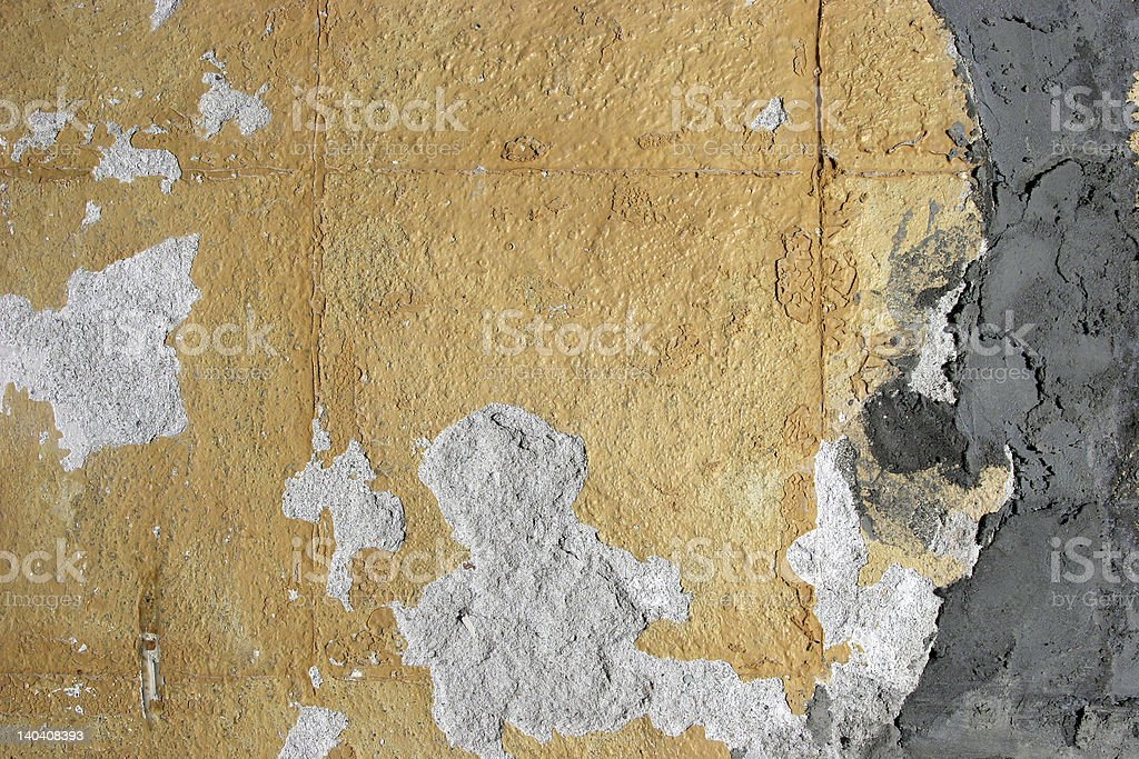 Grungy cemented wall royalty-free stock photo