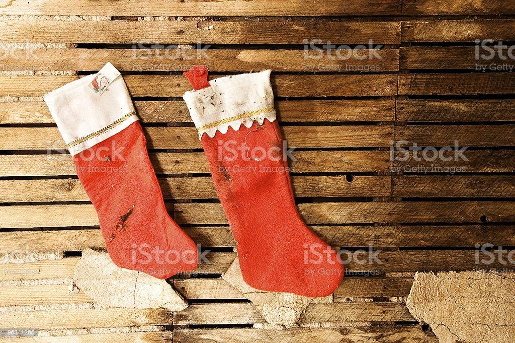 Grunge de Noël - Photo de Chaussette de Noël libre de droits