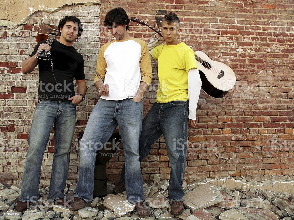grungy city band landscape royalty-free stock photo