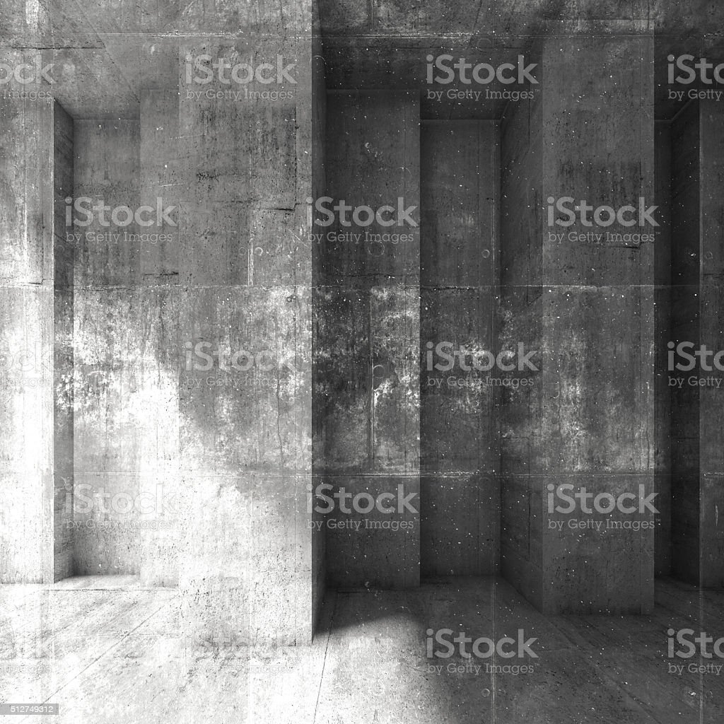 Grungy dark concrete wall background. 3d stock photo