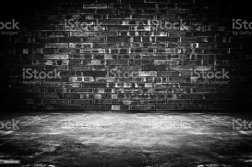 Grungy dark room background stock photo
