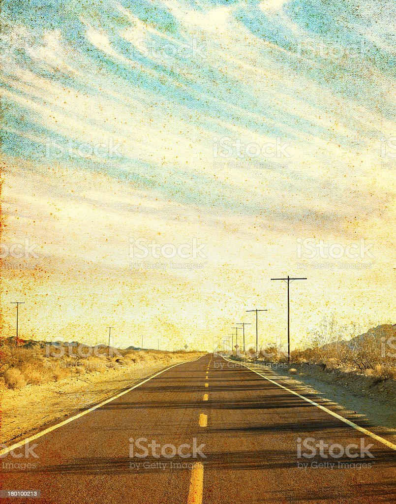 Grungy Desert Road stock photo