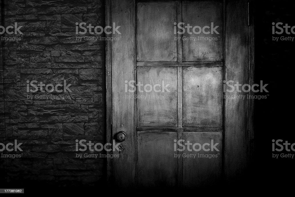 Grungy door stock photo