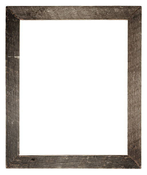 Grungy Empty Frame (Clipping Path) stock photo