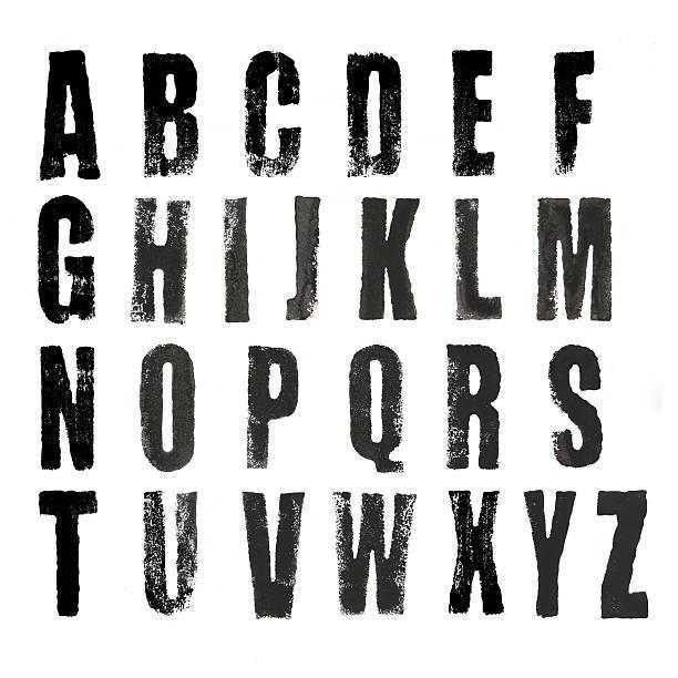grungy font - s stockfoto's en -beelden