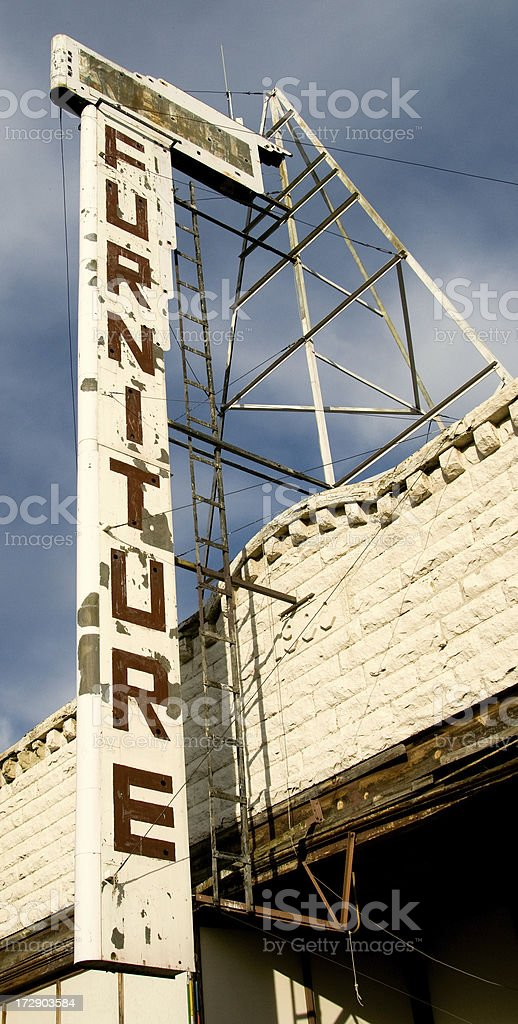 Grungy Furniture Sign royalty-free stock photo