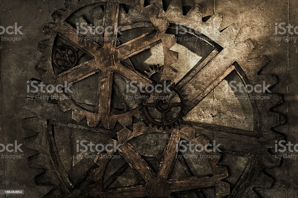 Grungy Gear Background stock photo