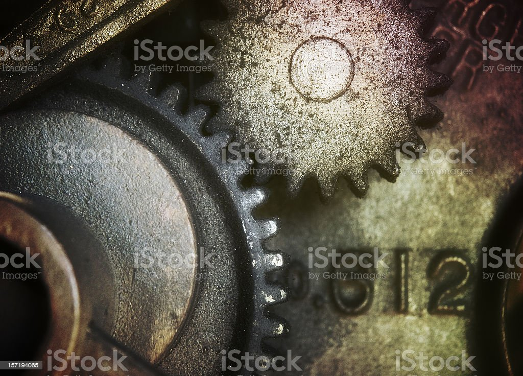 Grungy Gritty Gears royalty-free stock photo