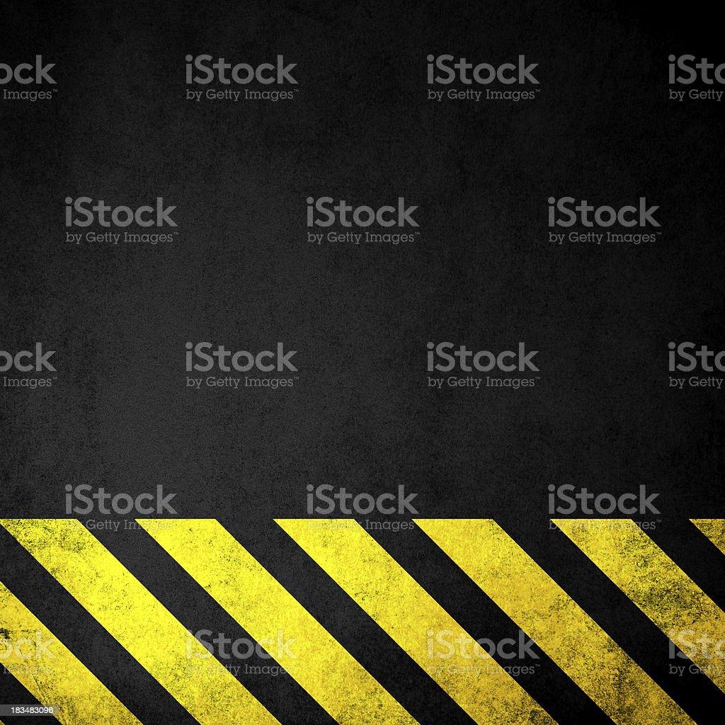 Grungy Hazard Background stock photo