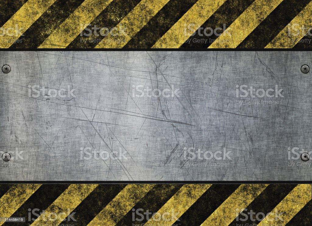grungy hazard sign metal plate stock photo