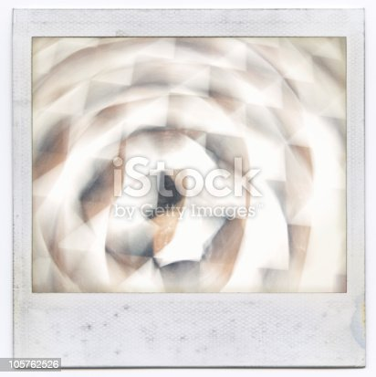 144325206 istock photo Grungy instant film frame with abstract filling 105762526