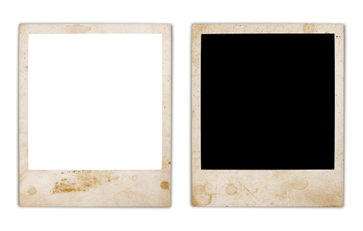 Grungy Instant Photo Frame Variation isolated on white (excluding the shadows)