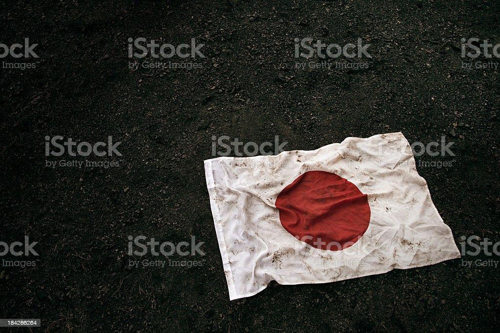 Grungy Japanese Flag royalty-free stock photo