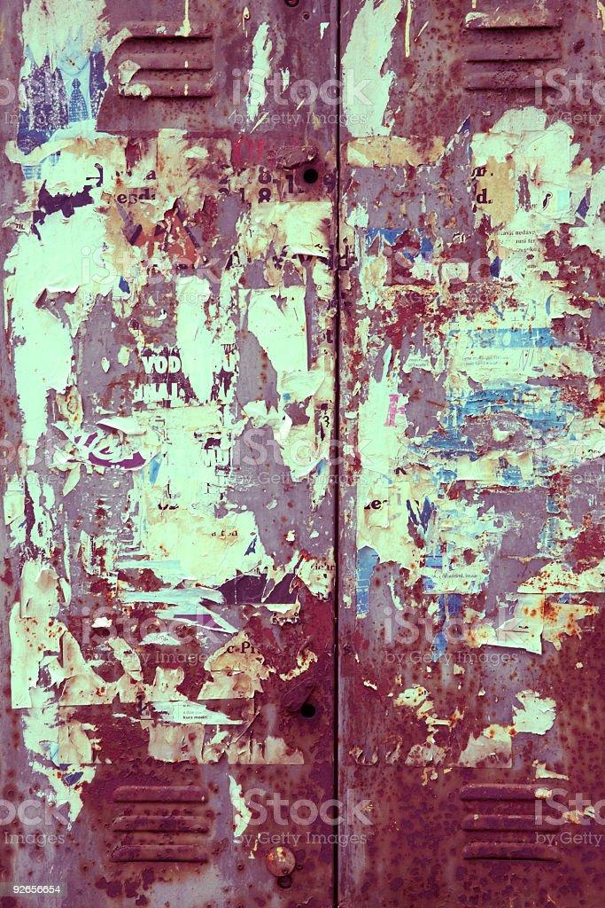 Grungy Metal Door royalty-free stock photo