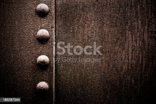 istock Grungy Metal XXXL Background with Rivets 185287044