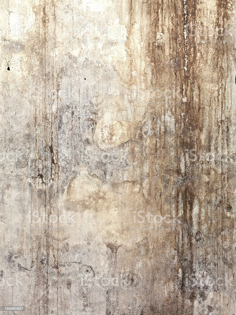 Grungy Moldy Dilapidated Plaster royalty-free stock photo