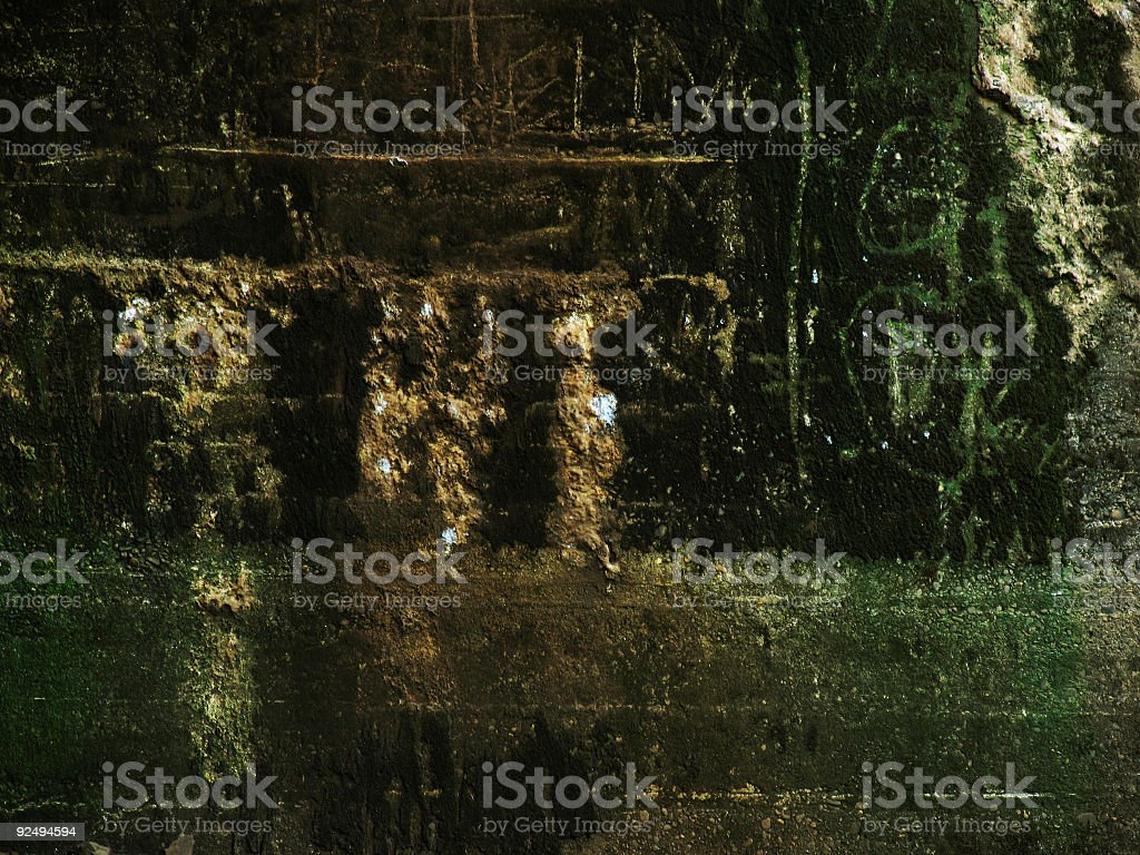 Grungy Mossy Old Wall royalty-free stock photo