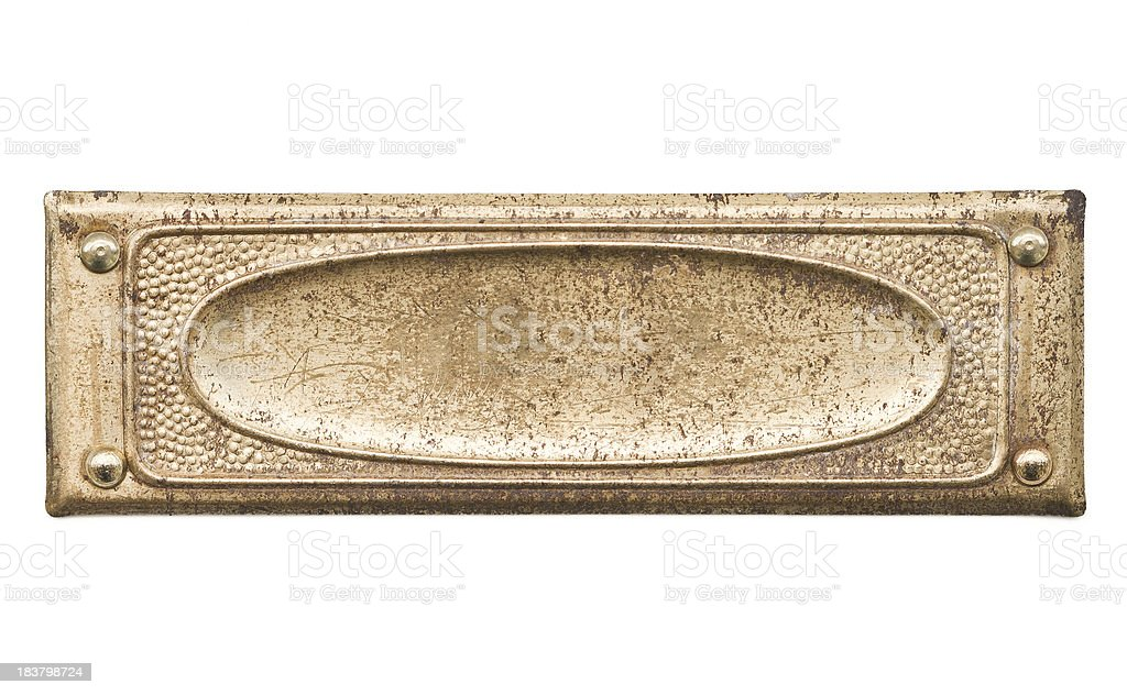 Grungy nameplate royalty-free stock photo