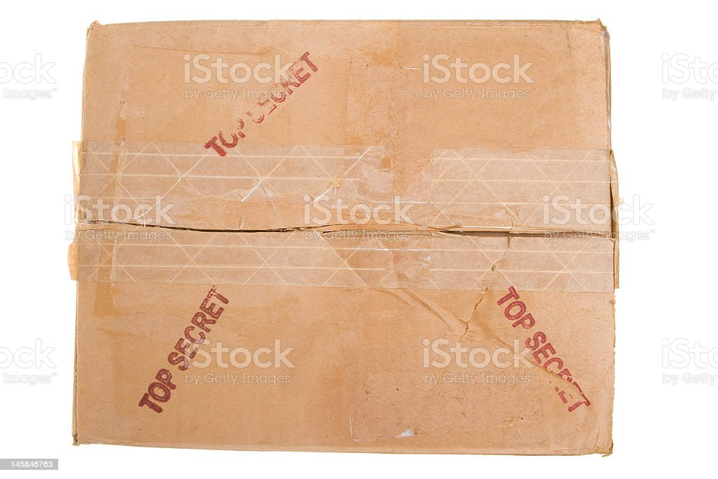 Grungy Old Cardboard Box Stamped
